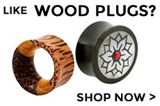 Wood Plugs and Tunnels for gauged/stretched ears