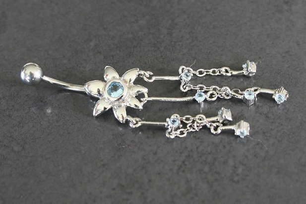 Image of Daisy Dangle Belly Ring body piercing jewellery NZ