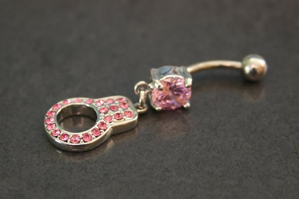 Image of Gem Handcuff Belly Ring body piercing jewellery NZ
