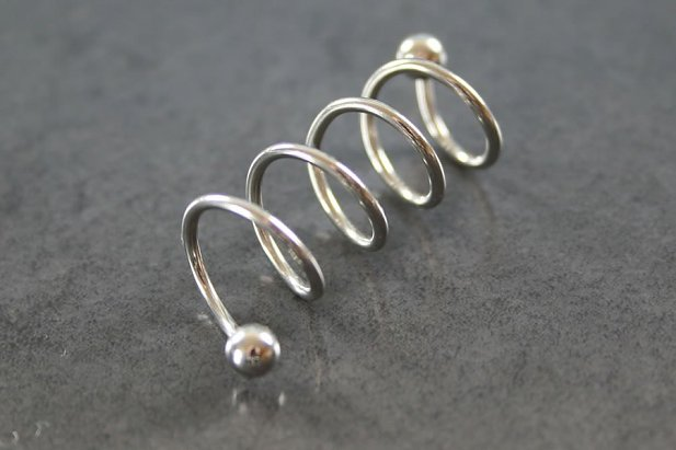 Image of 4 Hoop Twister Industrial Barbell body piercing jewellery NZ