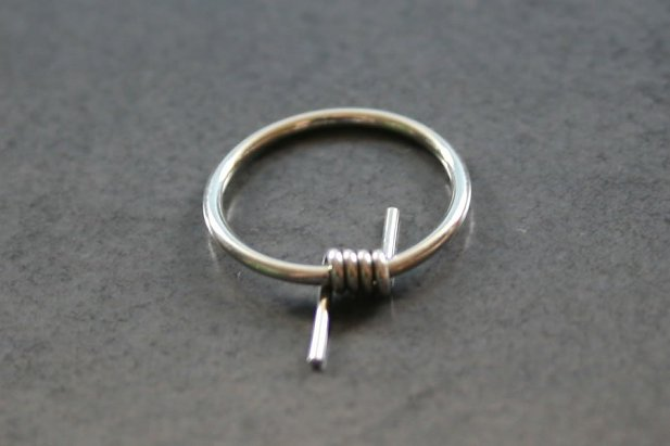 Image of Barb Wire Captive Ring body piercing jewellery NZ