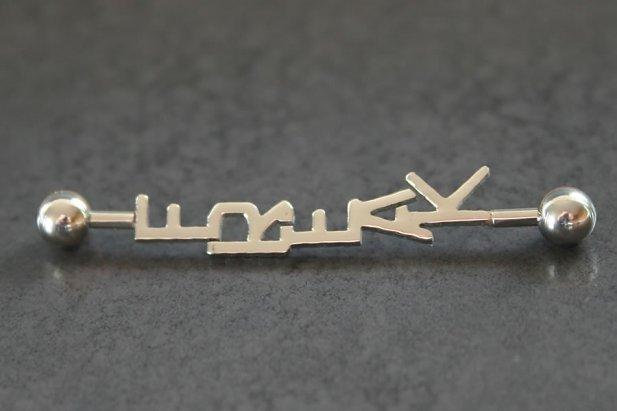 Image of Freak Industrial Barbell body piercing jewellery NZ