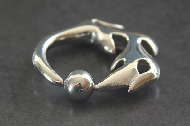 Image of Wicked Captive Bead Ring body piercing jewellery NZ