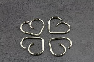 14ct White Gold Heart