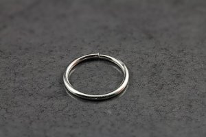 14ct White Gold Seamless Ring