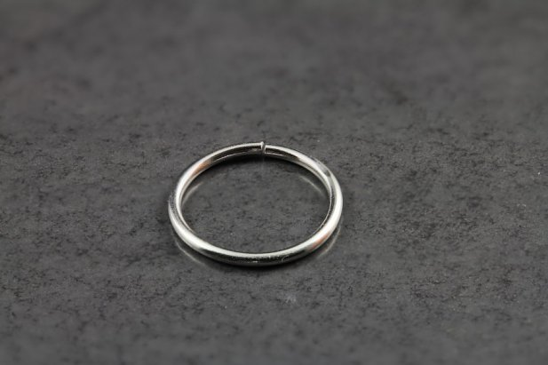 14kt White Gold Seamless Ring