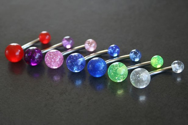 Image of Glitter Belly Ring body piercing jewellery NZ