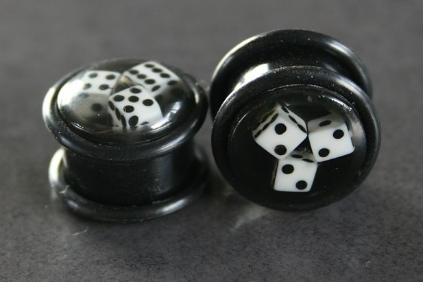 Image of Black Dice Plugs body piercing jewellery NZ