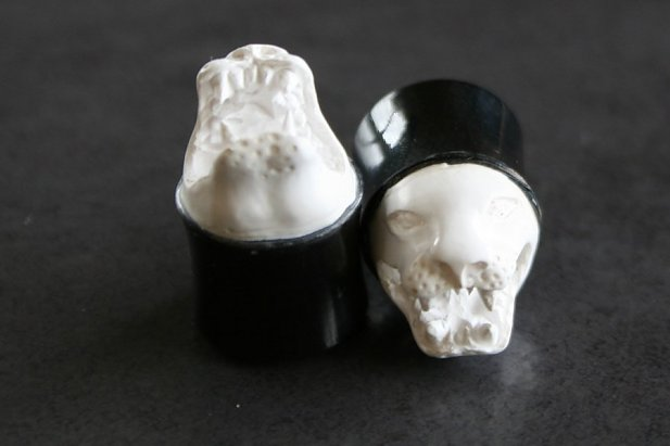 Image of Lion Head Organic Horn Plugs body piercing jewellery NZ