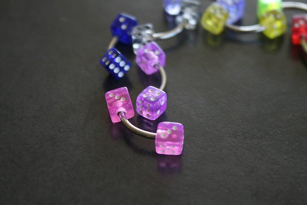 Image of Dice Belly ring body piercing jewellery NZ