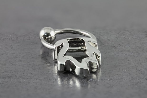 Image of Captive Bead Ring with Flame body piercing jewellery NZ