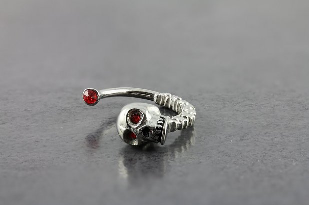 Image of Skull Taper body piercing jewellery NZ