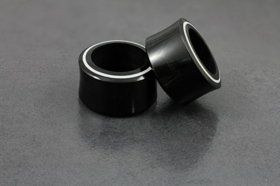 Image of Flared Horn and Bone Inlay Plug