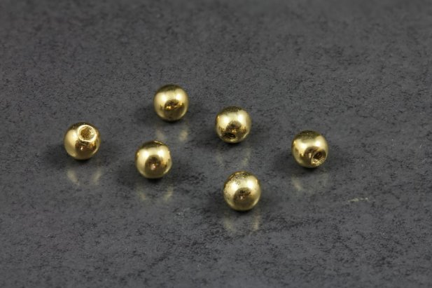 Image of 14kt Yellow Gold 4mm Replacement Ball 16g body piercing jewellery NZ