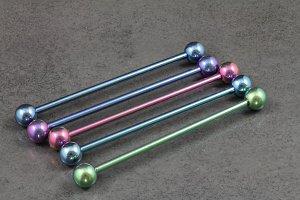 Pure Titanium Industrial Barbells