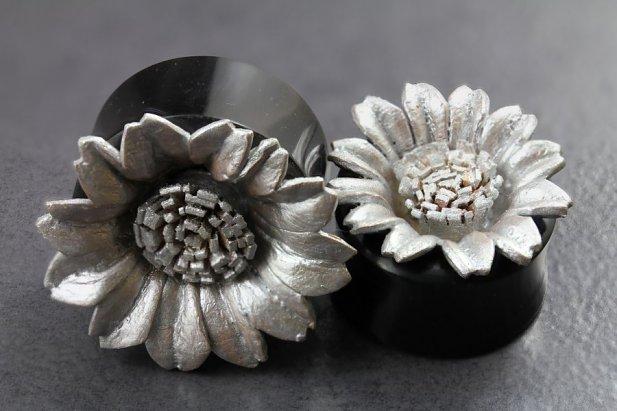Image of Sunflower Flared Horn Plugs body piercing jewellery NZ