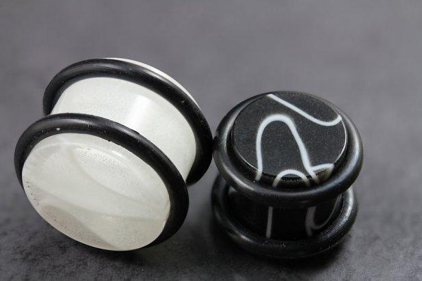 Image of Solid Acrylic Marble Plugs body piercing jewellery NZ