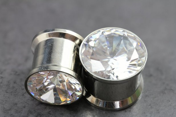 Image of Super Bling Flared Plugs body piercing jewellery NZ