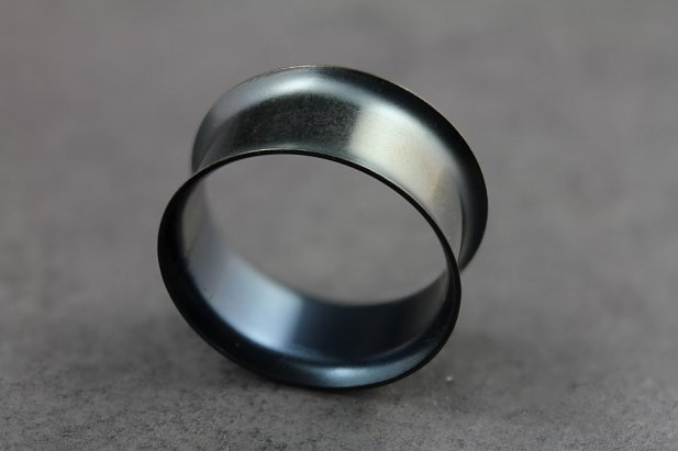 Image of Black Titanium and Steel Tunnels body piercing jewellery NZ