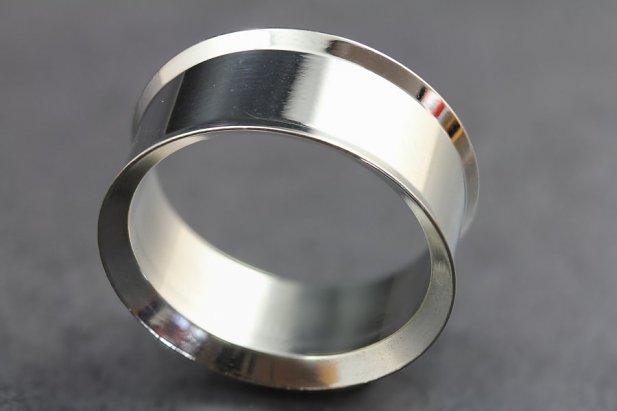 Image of Double Flared Steel Tunnels body piercing jewellery NZ