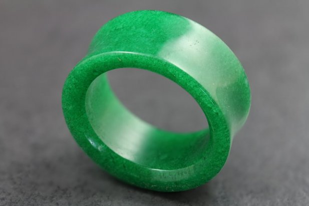 Image of Green Stone Tunnel body piercing jewellery NZ