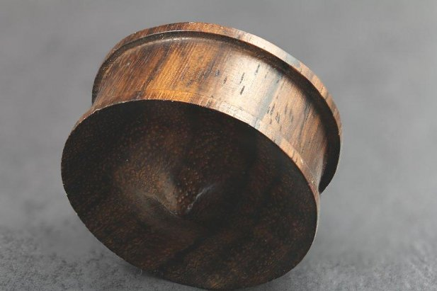 Image of Sono Wood Spike Plug body piercing jewellery NZ