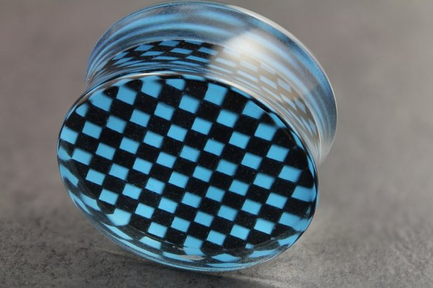 Image of Checker Board Plugs body piercing jewellery NZ