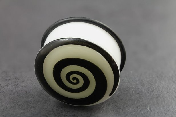 Image of Glow in the Dark Spiral Plugs body piercing jewellery NZ