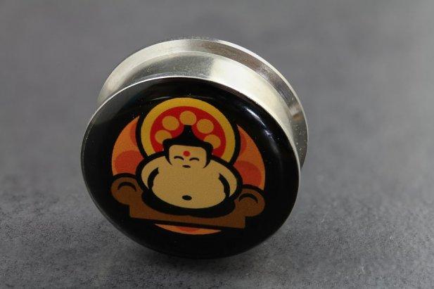 Image of Retro Buddha Stash Plugs body piercing jewellery NZ