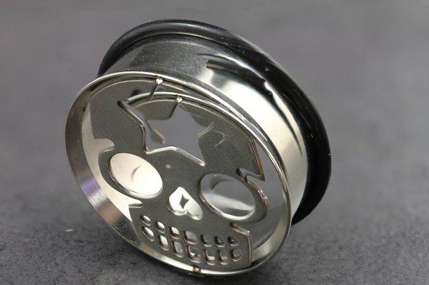 Image of Skull Star Impression Plug body piercing jewellery NZ