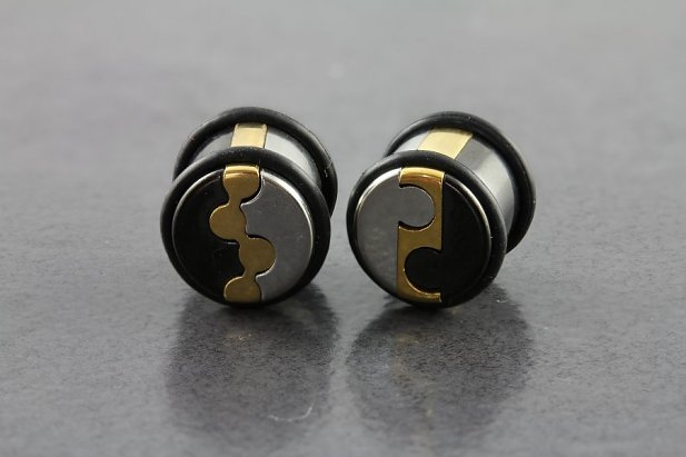 3 Tone Molecule Puzzle Plugs with O-rings