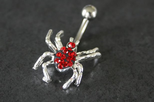 Image of Red Spider Belly Ring body piercing jewellery NZ