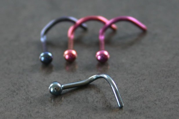 Image of Plain Titanium Nose Screw body piercing jewellery NZ