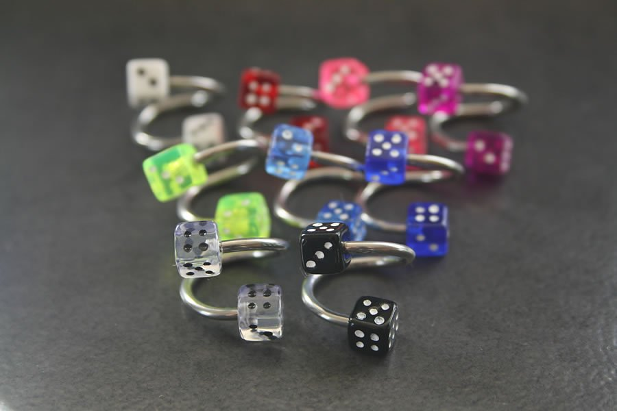 Image of Dice Spiral Belly Ring
