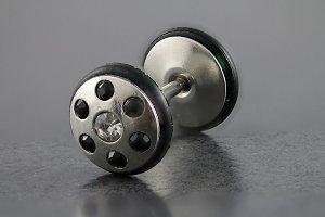 7 Stone Black/Crystal Bling Fake Plug