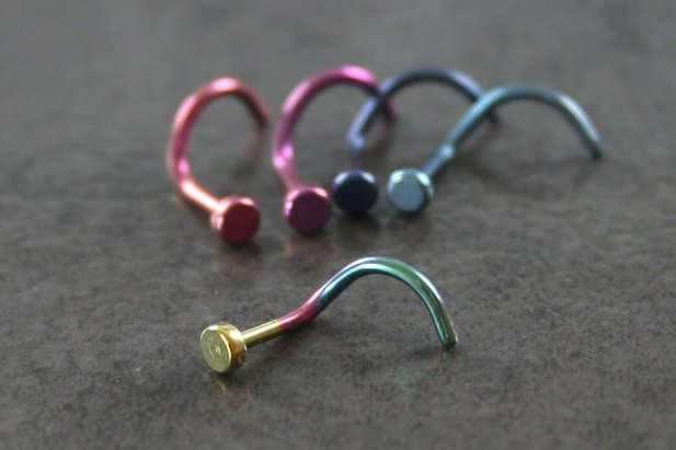 Image of Flat Titanium Nose Screw body piercing jewellery NZ