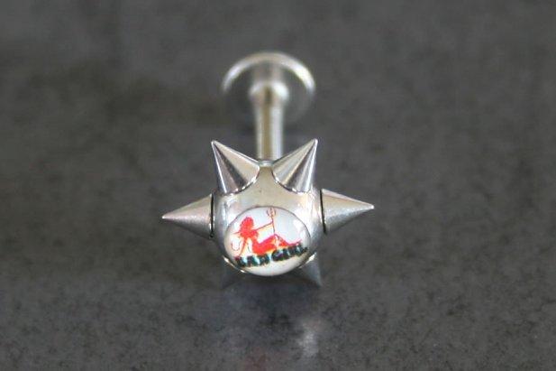 Image of Bad Girl Spike Labret body piercing jewellery NZ