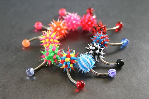 Image of Koosh Ball Belly Ring body piercing jewellery NZ