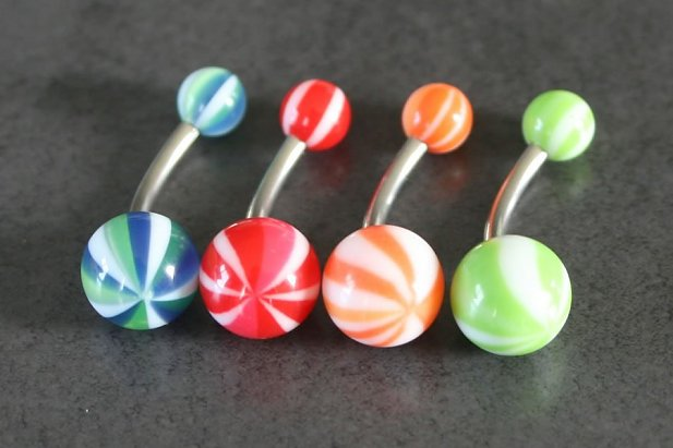 Image of Beach Ball Belly Ring body piercing jewellery NZ