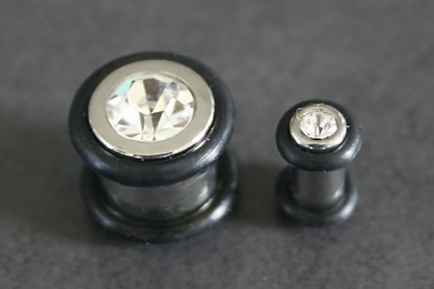 Image of Stone Bling Plugs body piercing jewellery NZ