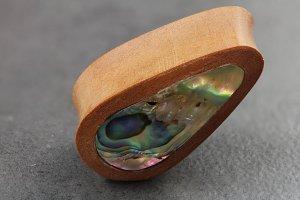 Abalone Inlay and Sawo Wood Plugs