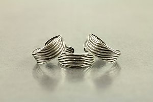 Abstract Engraved Toe Ring
