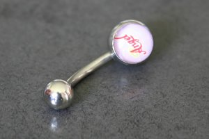 Angel Logo Belly Ring