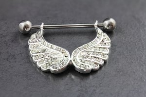 Angel Wing Dangle Nipple Bar