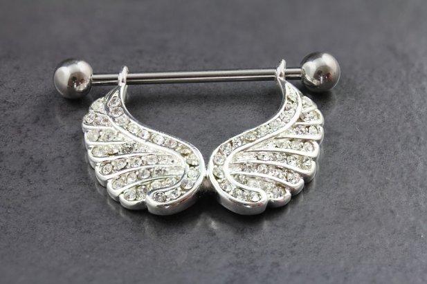 Angel Wing Dangle Nipple Bar