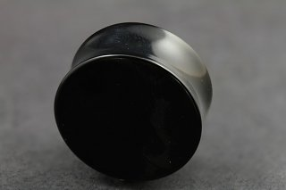 Black Agate Stone Flared Plug