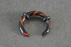Black and Red Glass Talon