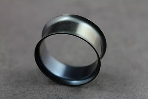 Black Titanium and Steel Tunnels