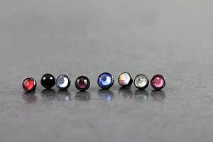 Blackline 4mm Jeweled Disk for Dermal Anchors