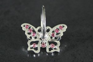 Butterfly Dangle Captive Bead Ring